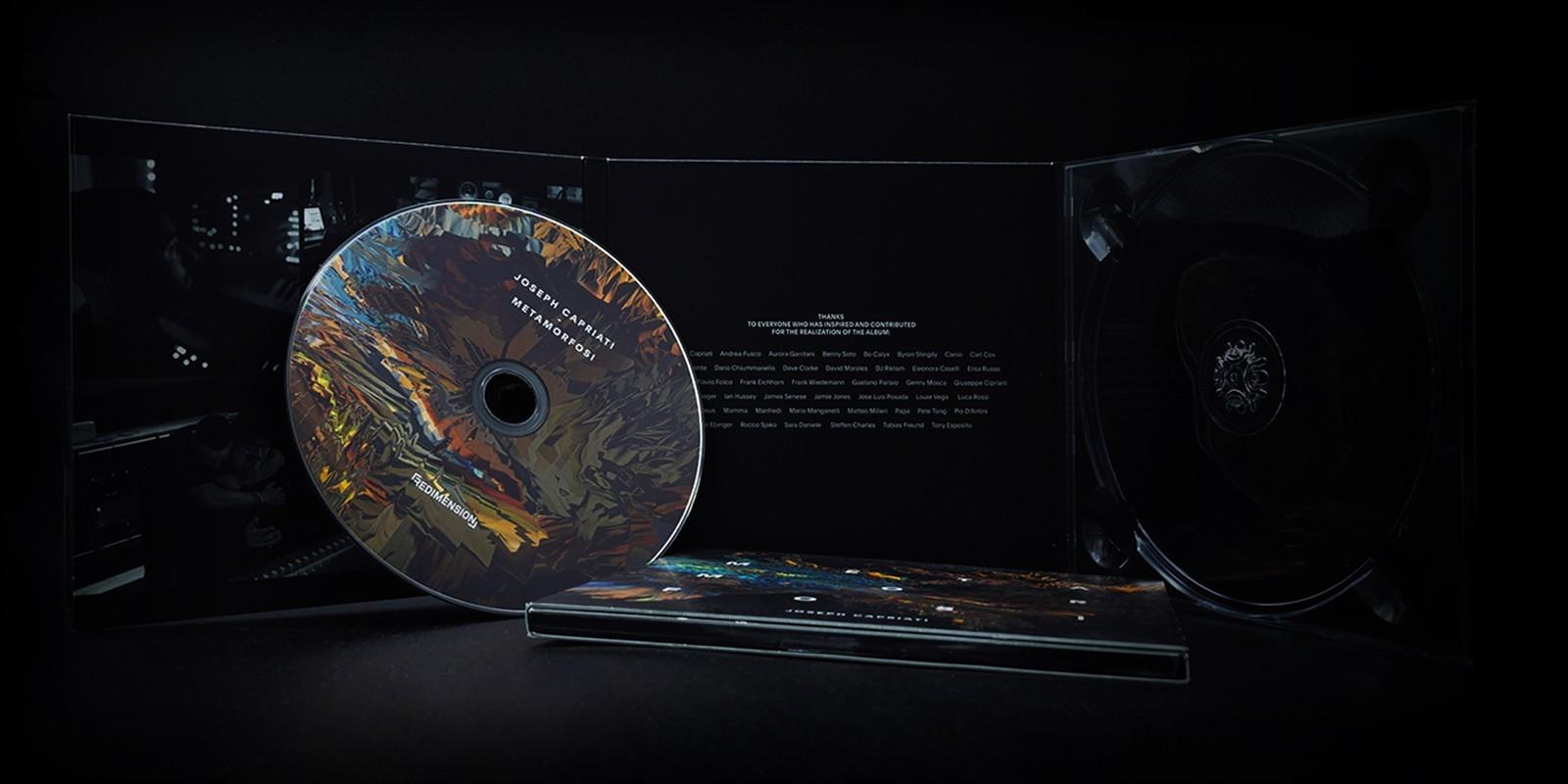 I compact disks dell'etichetta Redimension di Joseph Capriati